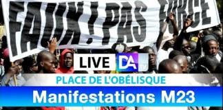 [🔴LIVE - Place de l'obélisque ] www.kafunel.com Suivez la Manifestations M23