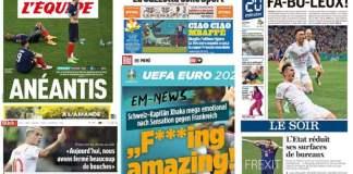 Revue de presse Euro 2020 du 29 juin 2021 www.kafunel.com La France déchante, la Suisse exulte et se pince, les médias internationaux sous le choc
