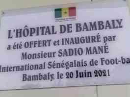 SADIO MANÉ A INAUGURÉ L'HÔPITAL DE BAMBALY