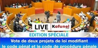 Vote Projets de 02 www.kafunel.com de Loi Modifiant le Code Pénal et le Code de Procédure Pénale Capture