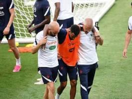 thomas-lemar-training-france www.kafnel.com Lemar et Thuram rejoignent l'infirmerie, C'est l'hécatombe EURO 2021