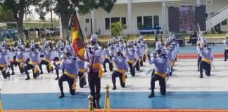 Cérémonie de remise d'épaulettes aux 63 sous lieutenants de la 39e promotion de l'ENOA0