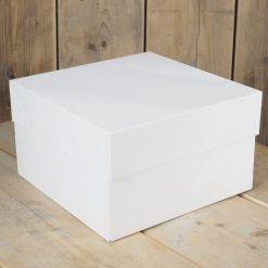 Kageboks Hvid, 30 x 30 x 15 cm