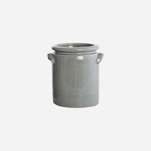 House Doctor Redskabskrukke / Urtepotte, Pottery S, Lysegrå