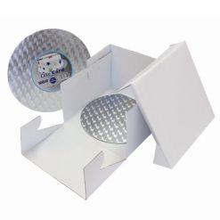 Kageboks med rundt kageplade 32,5 x 32,5 x 15 cm – PME