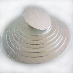 Kagefad sølv rund 25 cm fra FunCakes