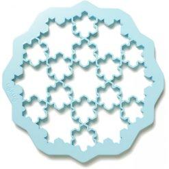 Lékué udstiksform snefnug i blå
