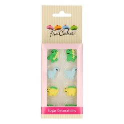 Sukkerpynt - Dinosaur, 8 stk - Funcakes
