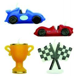 Kagelys Racerbil 4 stk. - PME