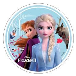 Frozen 2 Sukkerprint, 21 cm - 01