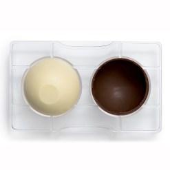 Halvkugle Dessertskal Ø 7,5 cm. – Polycarbonat Chokoladeform - Decora