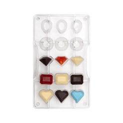 Juvel / Ædelsten – Polycarbonat Chokoladeform - Decora
