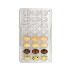Påskeæg 2,4 cm. – Polycarbonat Chokoladeform - Decora