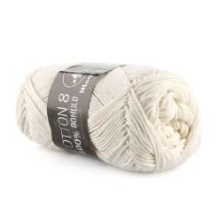 Mayflower Cotton 8/4 Garn 1401 Råhvid