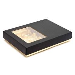 Deluxe chokoladeæske i sort/guld til 12 stk.