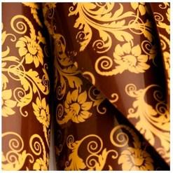 Chokoladefolie / Transfer Sheet Blomster snirkler