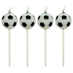 Fodbold kagelys 4 stk. - PME