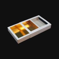 Lille chokolade æske / kageæske - 15x11x2,5 cm