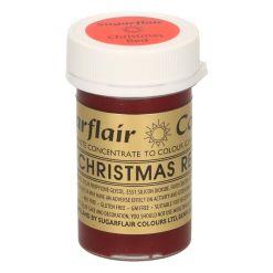 Pastafarve Julerød, 25 g - Sugarflair