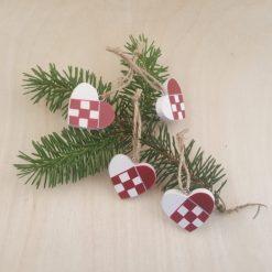 Små Flettede Julehjerter, 1 stk. - Madleys