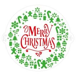 Stencil Merry Christmas - Decora