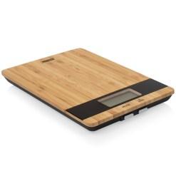 Elektronisk køkkenvægt i bambus - Princess