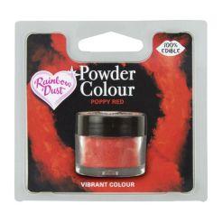 Spiseligt Støv, Poppy Red - Rainbow Dust