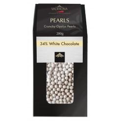 Valrhona chokolade, Crunchy Opalys Pearls 34% 200g