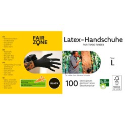 100 stk. Latex Handsker Str. L - Fair Zone