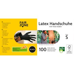 100 stk. Latex Handsker Str. S - Fair Zone