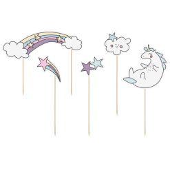 Cake Topper Unicorn Tema 5 stk. - PartyDeco