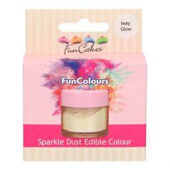 Elfenbenfarvet Glitter Støv - FunCakes