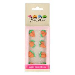 Sukkerpynt - Gulerødder, 16 stk - Funcakes