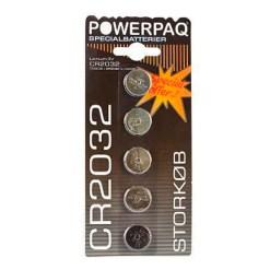 Alkaline batteri - CR2032 3V - 5 stk. - Powerpaq