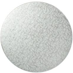 Sølv kagepap 35 cm – Rund