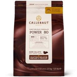 Callebaut Chokolade Mørk Power80 – 80% Kakao, 2,5 kg