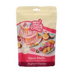 Deco Melts Hvid m. Yoghurt smag 250g – FunCakes