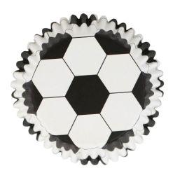Fodbold muffinsforme i metalfolie, 30 stk. - PME