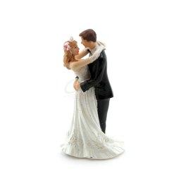 Topfigur til bryllupskage, brudepar 12,7cm