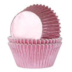 Mini muffinsforme baby pink folie 36 stk. - House of Marie
