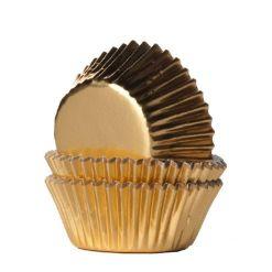 Mini muffinsforme guld folie 36 stk. - House of Marie