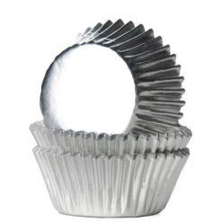 Mini muffinsforme sølv folie 36 stk. - House of Marie