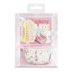 Unicorn muffinsforme sæt 24 dele - ScrapCooking