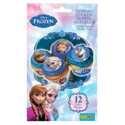 Sukkerpint til Cupcakes - Frozen / Frost 12 stk.