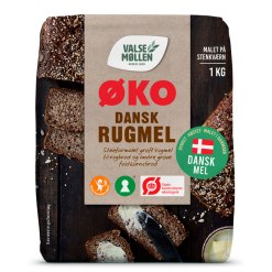 Økologisk Rugmel 1kg - Valsemøllen