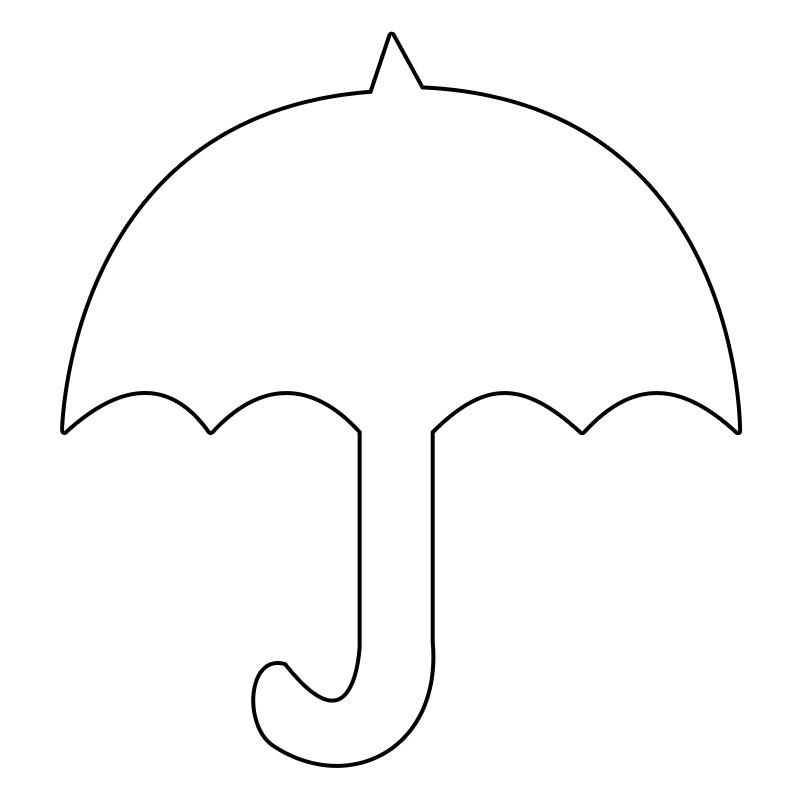 Картинка трафарет зонтик