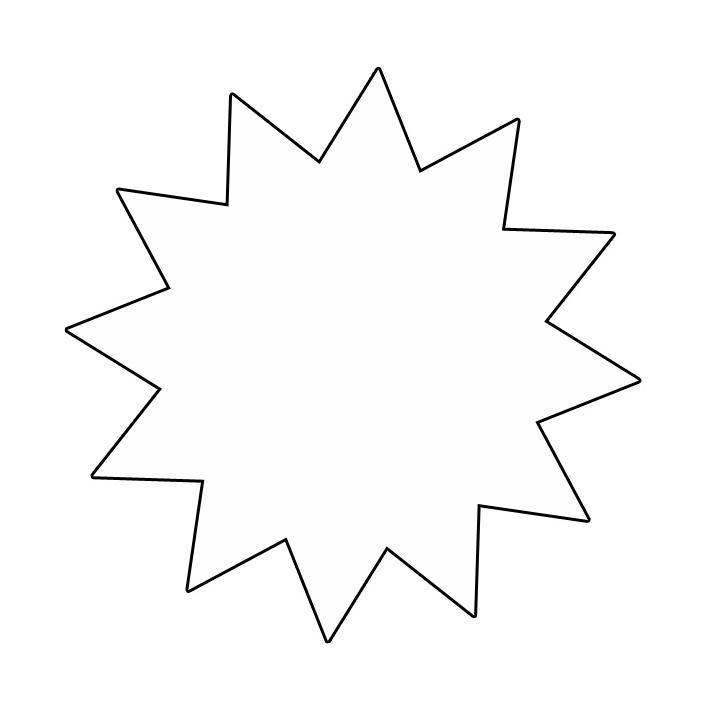 şekiller Yıldız şablonları Projedenizi