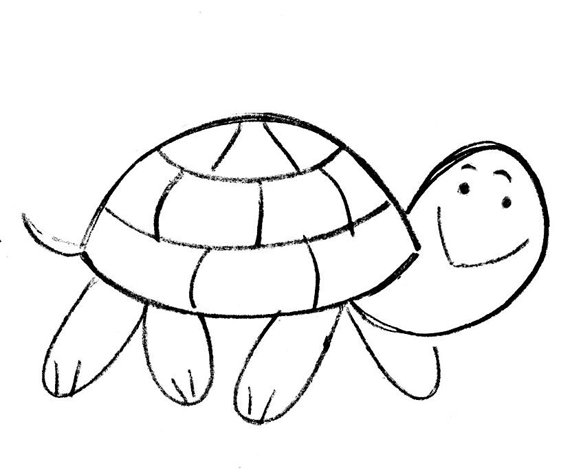 Kolay Resim Kaplumbağa Ve Uğurböceği Projedenizi