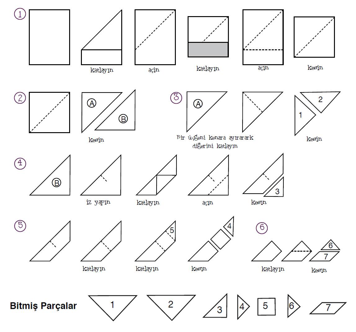 Tangram nedir ? , Tangram Çözümleri, Tangram nasıl oynanır, Tangram şekilleri