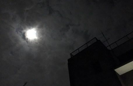 2017.10.04 中秋の名月 鹿児島の上空